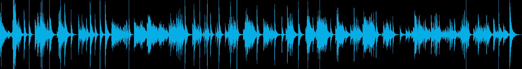琴で静寂を表現しましたの再生済みの波形