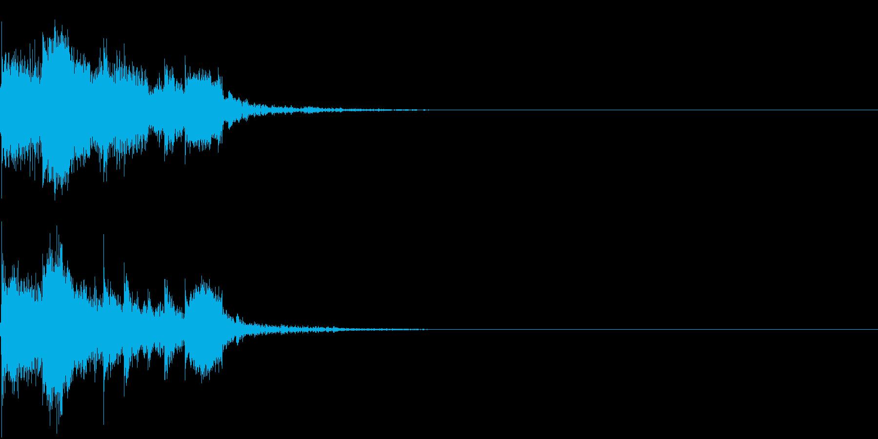衝撃 金属音 恐怖 震撼 ホラー 12の再生済みの波形