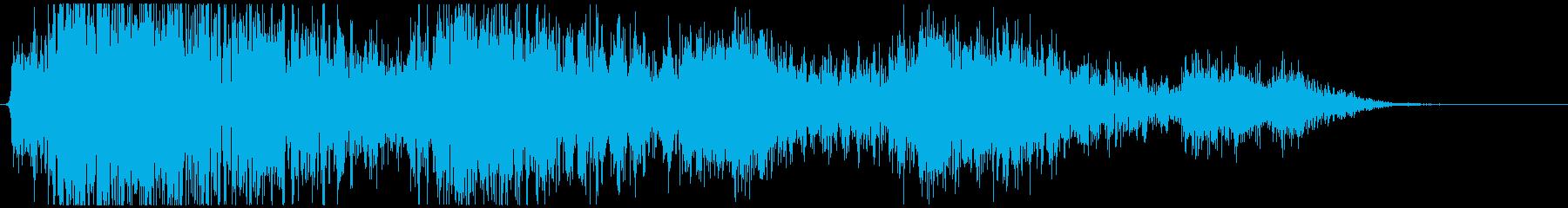 オイルドラム爆発爆発と爆弾の再生済みの波形