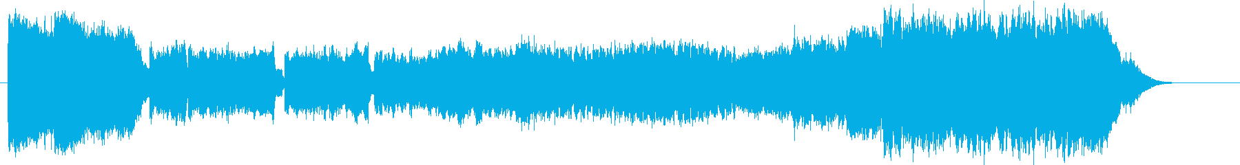 ダークで神秘的で爽やかなエレキサウンドの再生済みの波形