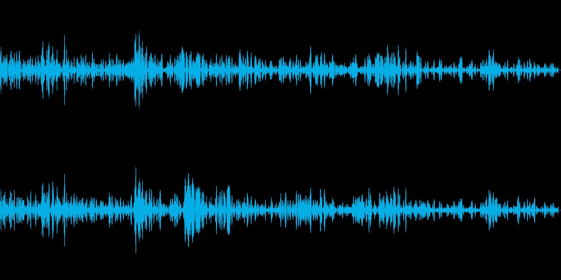 ボウリングの投球(減衰なし)の再生済みの波形