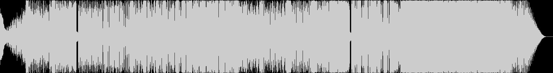 実験音楽でエレクトロニックな曲の未再生の波形