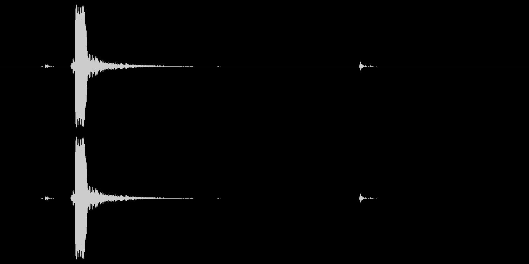 ドライファイア、武器の未再生の波形