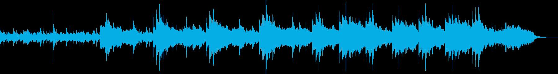 1分14秒ソング 和風くつろぎ の再生済みの波形