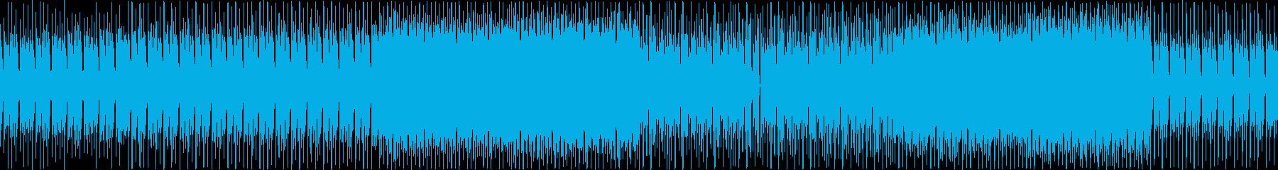 不思議なテクノの再生済みの波形