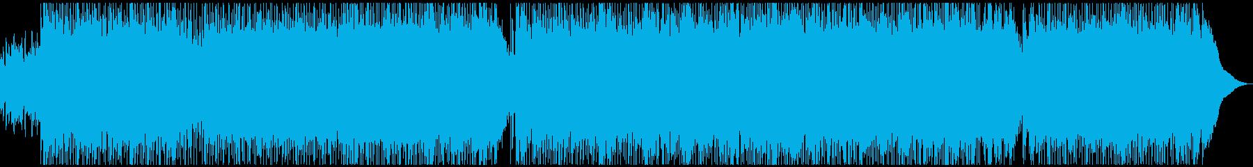 ロック、エモーショナル、エネルギッシュの再生済みの波形