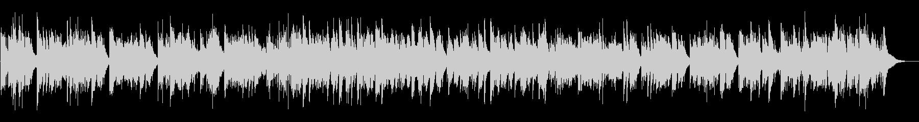 眠りに誘うハープのBGMの未再生の波形