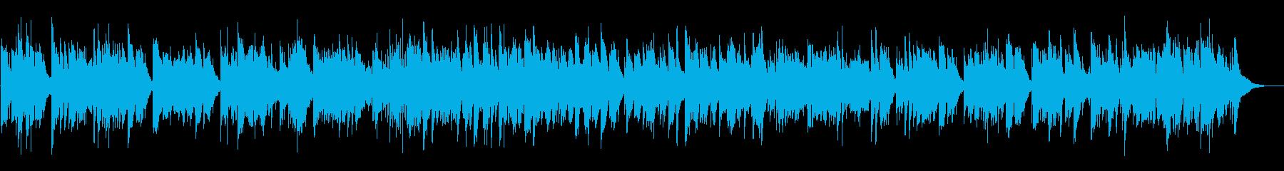眠りに誘うハープのBGMの再生済みの波形