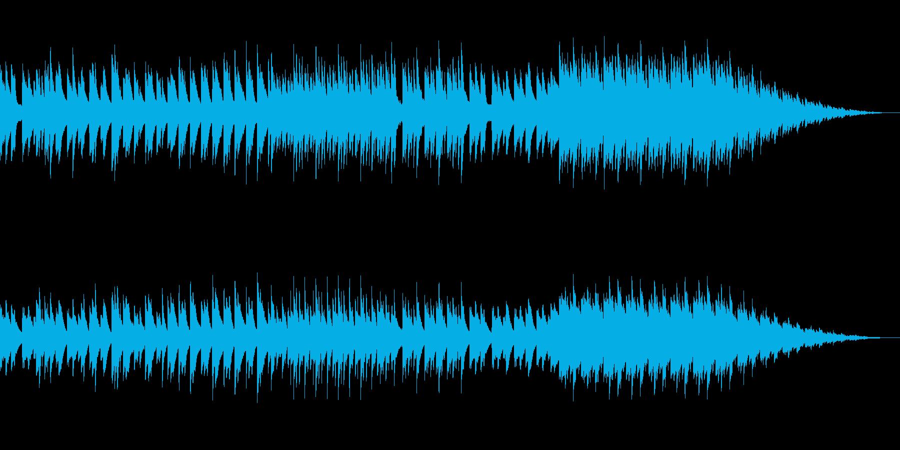 コミカルでポップなアコースティックBGMの再生済みの波形