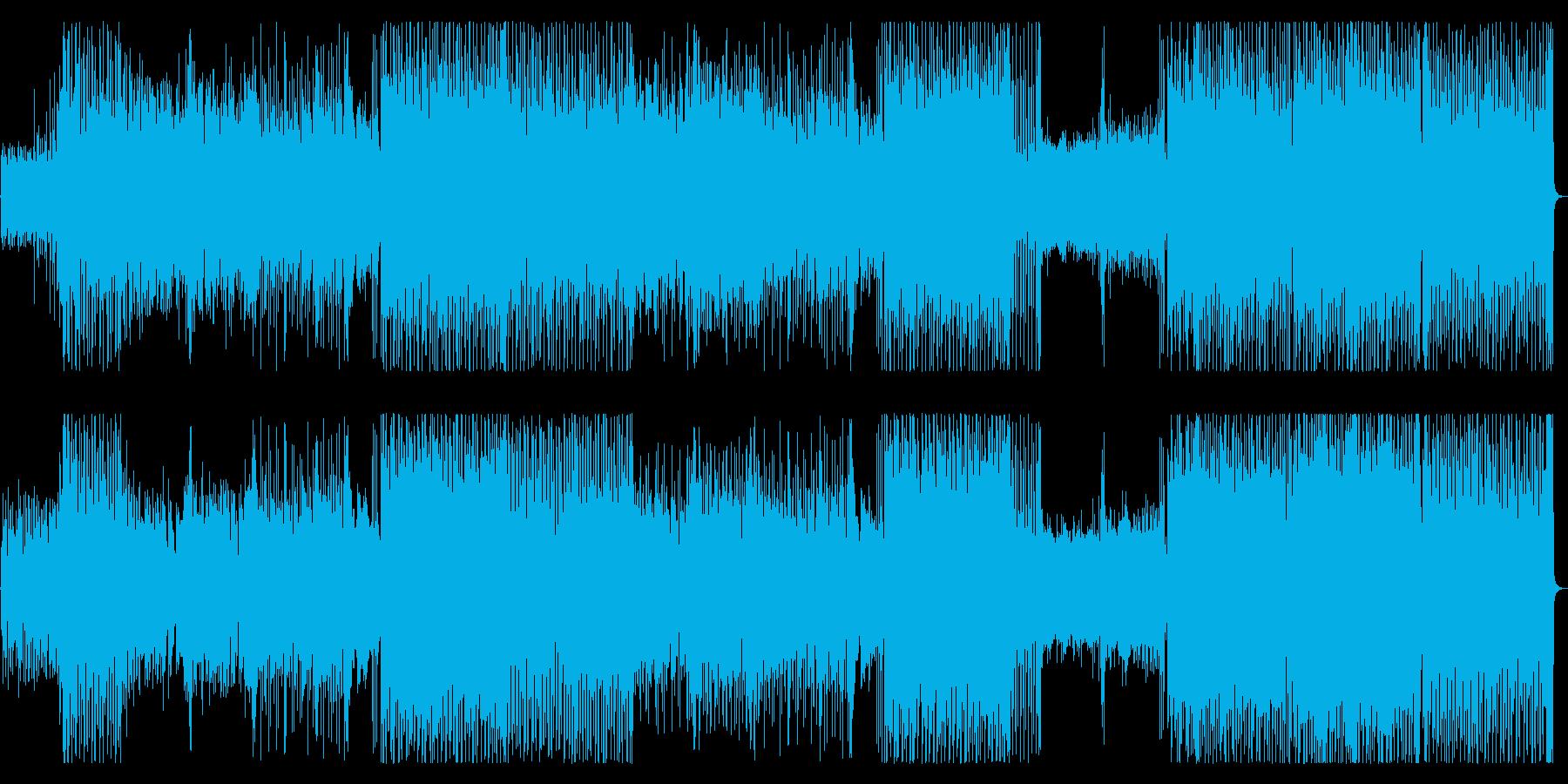 ピコピコ音が可愛いポップスの再生済みの波形
