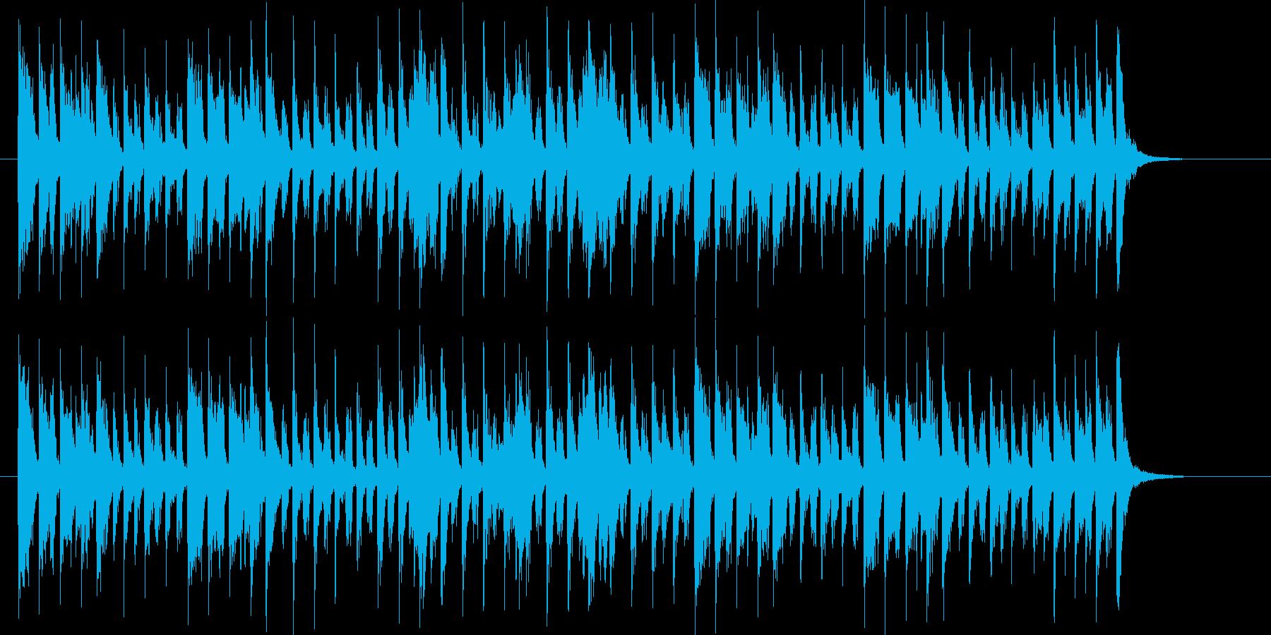 アーバンな1980年代風ピアノ・ソウルの再生済みの波形