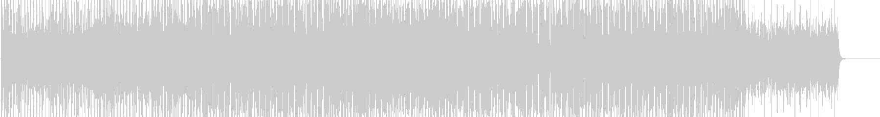 和風のエレクトロニカBGMの未再生の波形