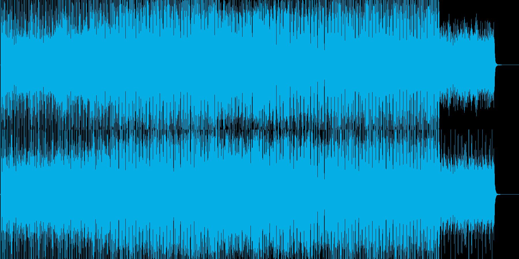 和風のエレクトロニカBGMの再生済みの波形