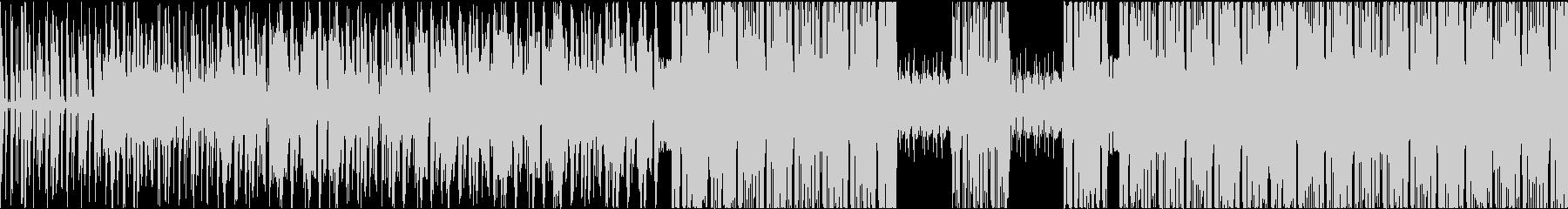 インパクト大のブレイクビーツの未再生の波形