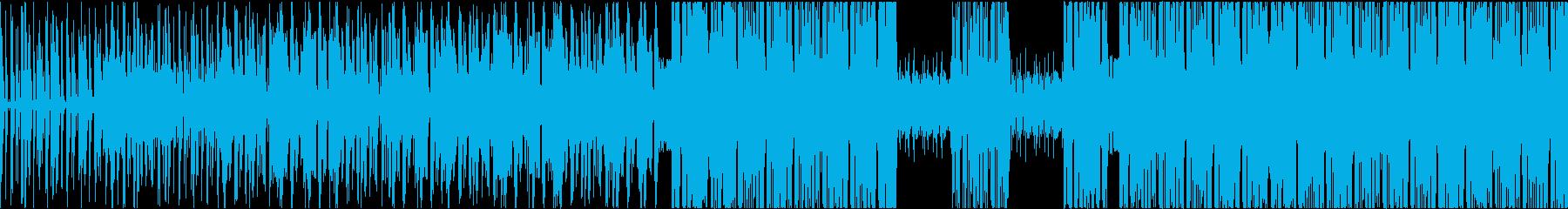 インパクト大のブレイクビーツの再生済みの波形