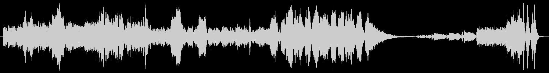 フルオーケストラで激しい場面のイメージの未再生の波形