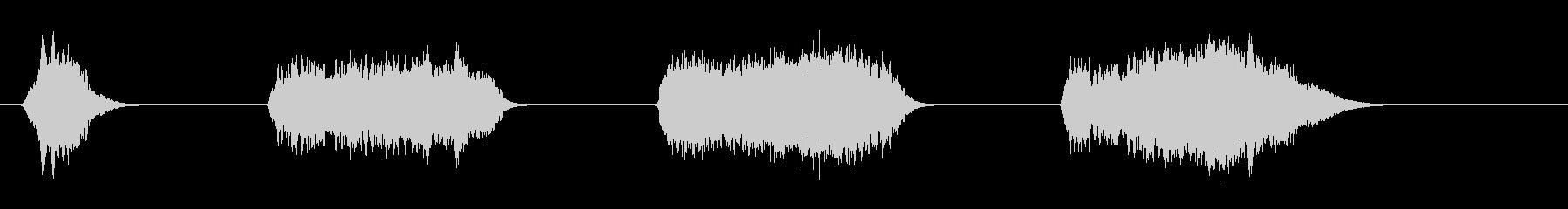 ホイッスル-落下-4バージョンの未再生の波形