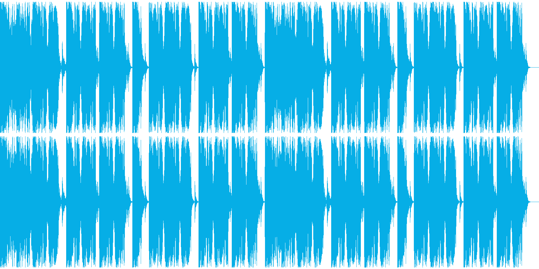 【EDM】ロング9、ジングル2の再生済みの波形