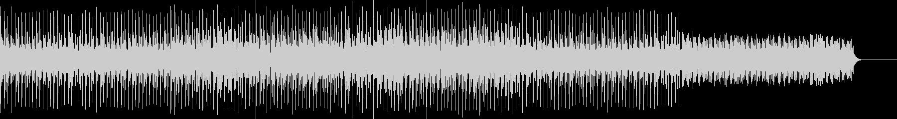 電子音楽感の詰まったテクノポップの未再生の波形