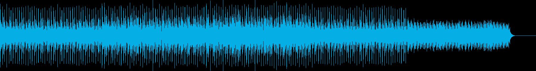 電子音楽感の詰まったテクノポップの再生済みの波形