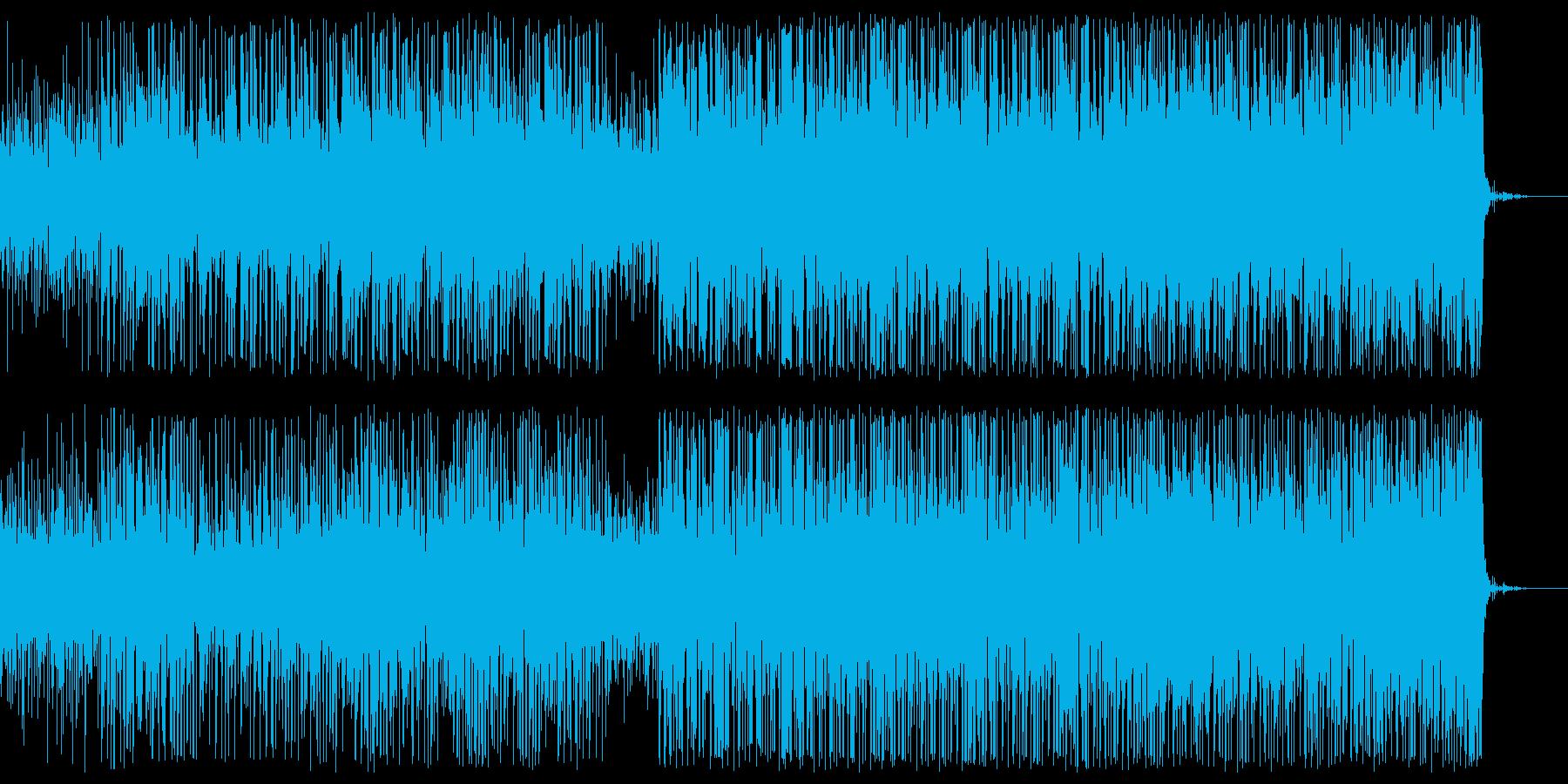 エンドロール感のあるテクノの再生済みの波形
