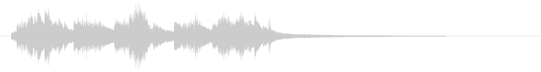 ジャジーなピアノ・ジングル・ロゴにの未再生の波形