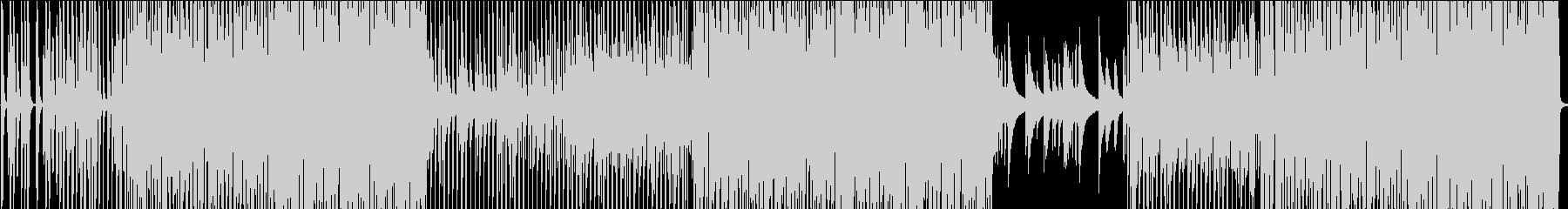 少し騒がし目の四つ打ちの未再生の波形