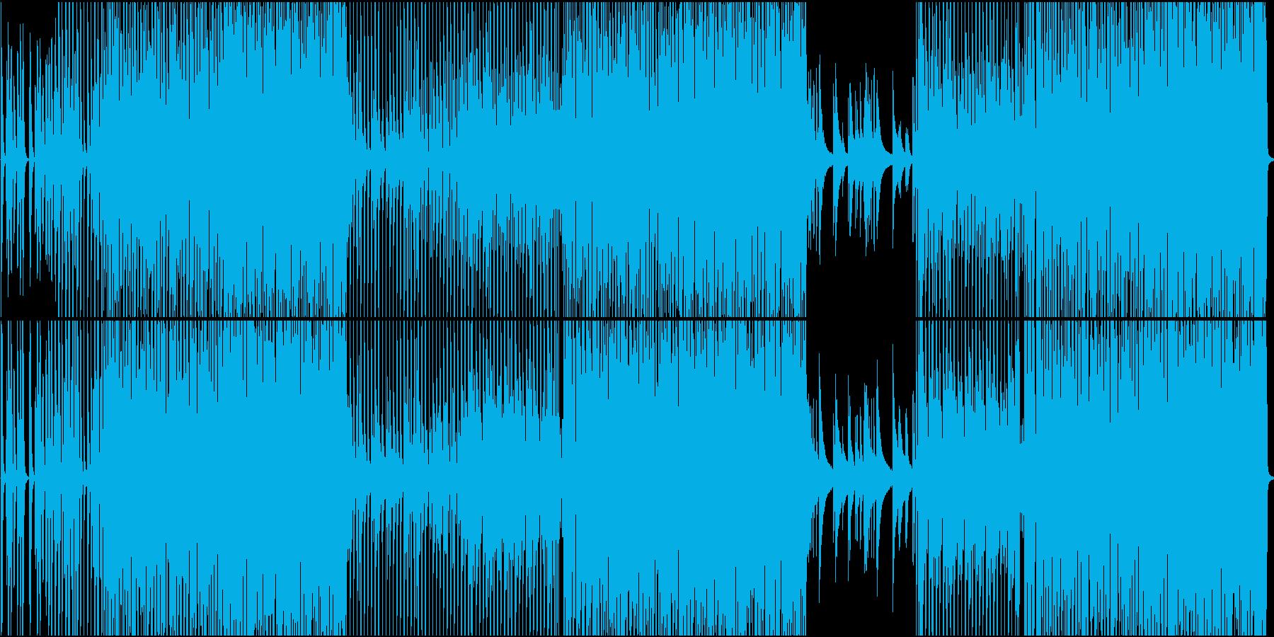 少し騒がし目の四つ打ちの再生済みの波形