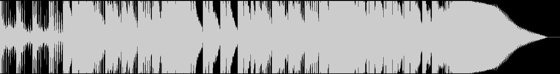 波の音に乗せたピアノとベースのインストの未再生の波形