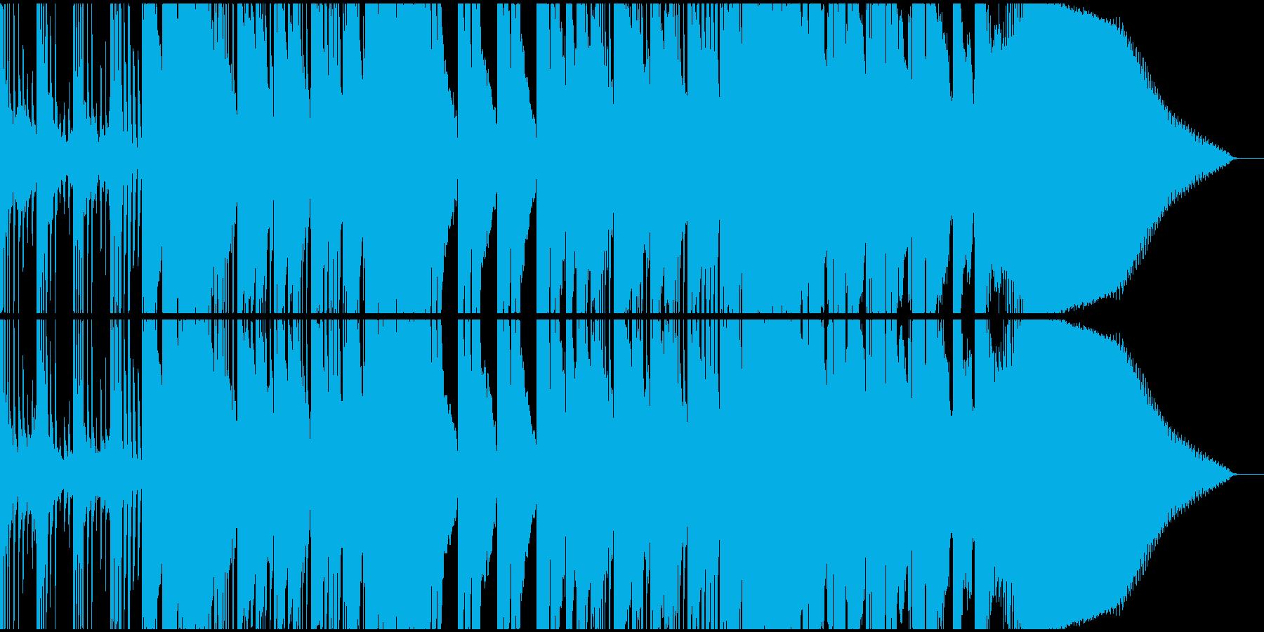 波の音に乗せたピアノとベースのインストの再生済みの波形