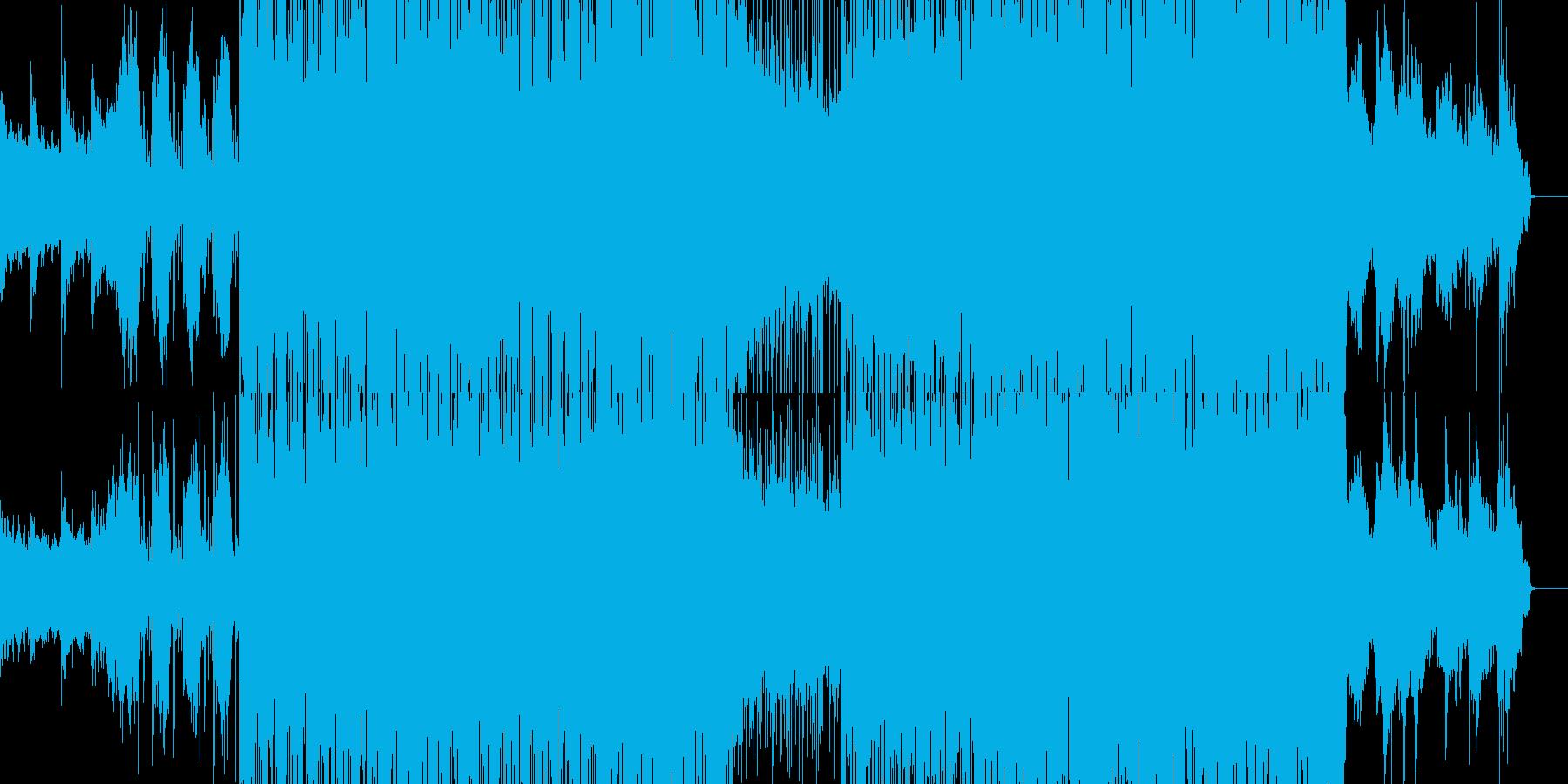 自然のエネルギーを感じるような曲の再生済みの波形
