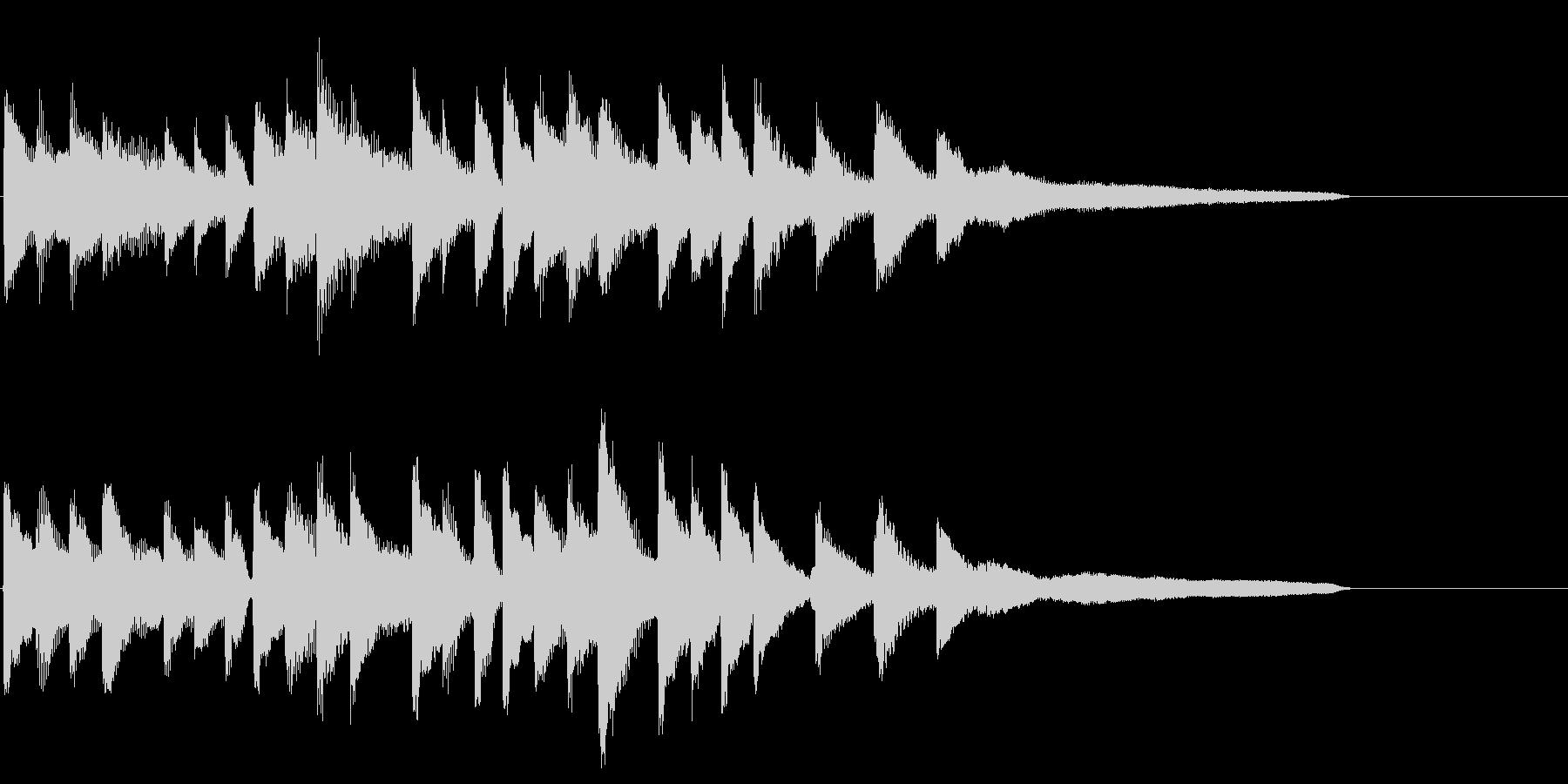 綺麗・爽やかなピアノソロのサウンドロゴの未再生の波形