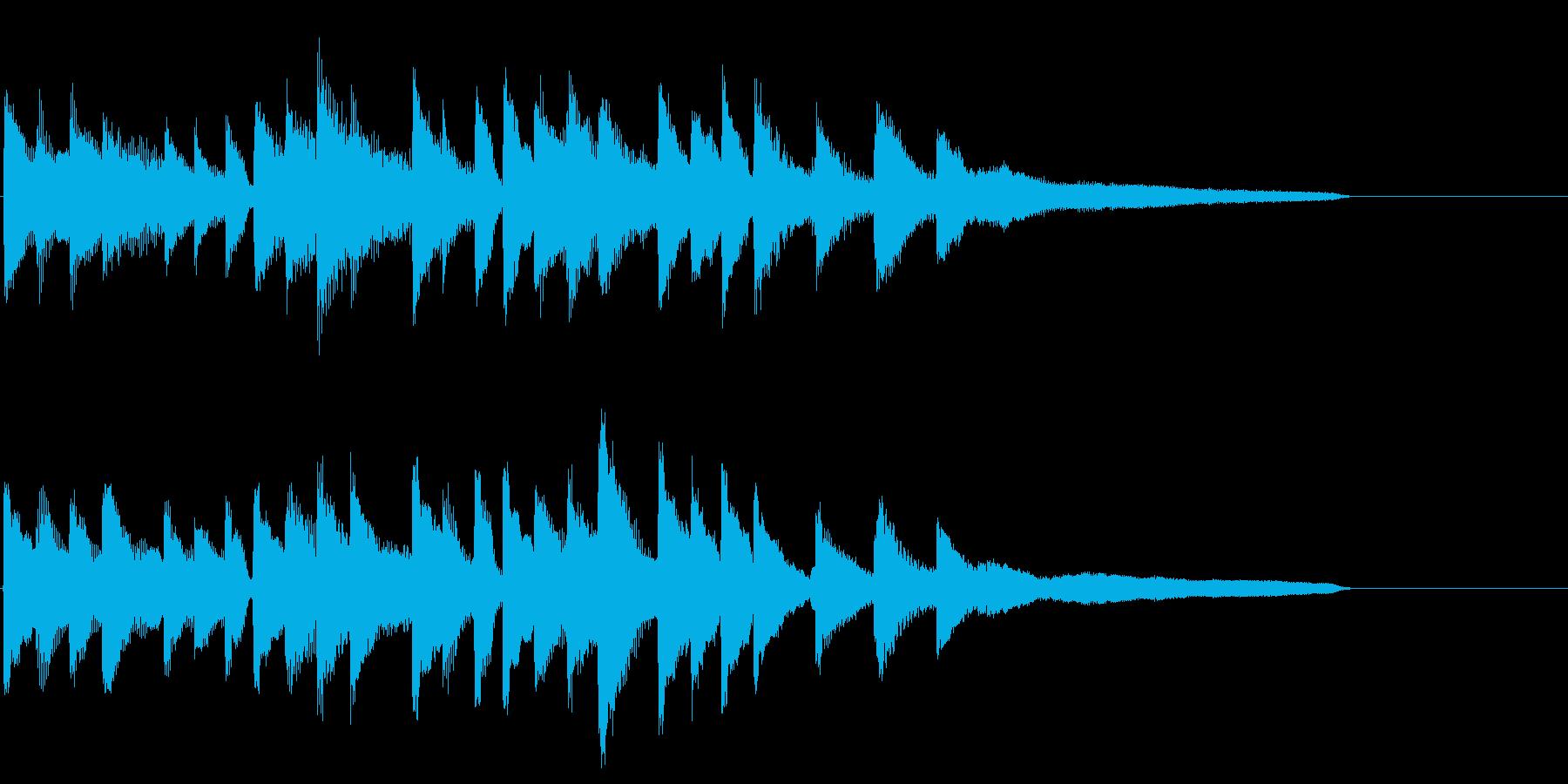 綺麗・爽やかなピアノソロのサウンドロゴの再生済みの波形