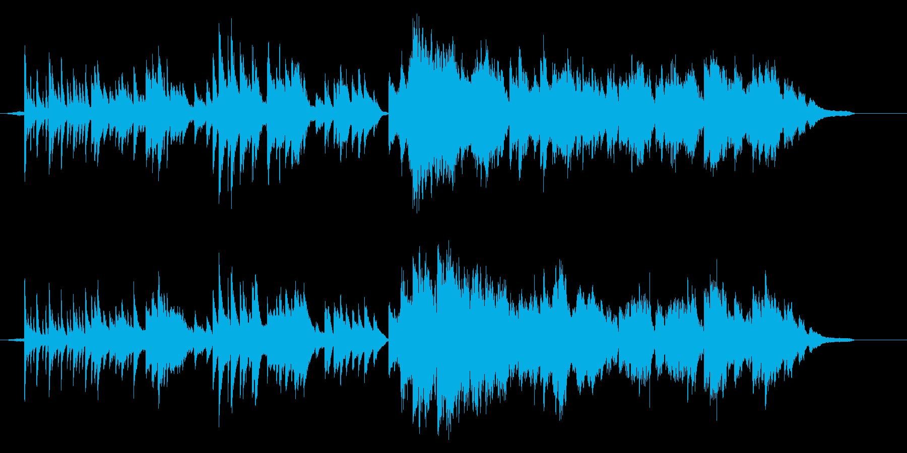 綺麗でゆっくり目の和風の曲の再生済みの波形
