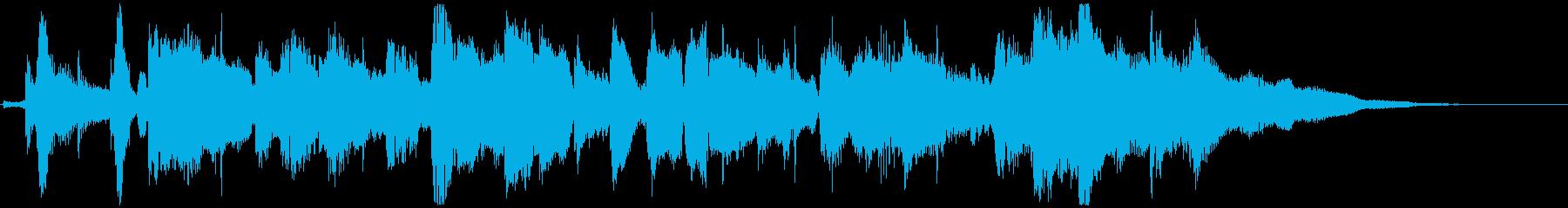 サックス&トランペットの落ち着くジングルの再生済みの波形