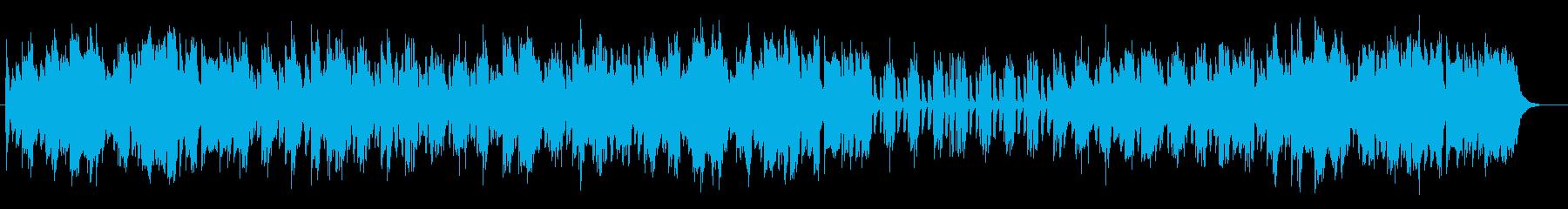 暖かみのあるピアノポップスの再生済みの波形