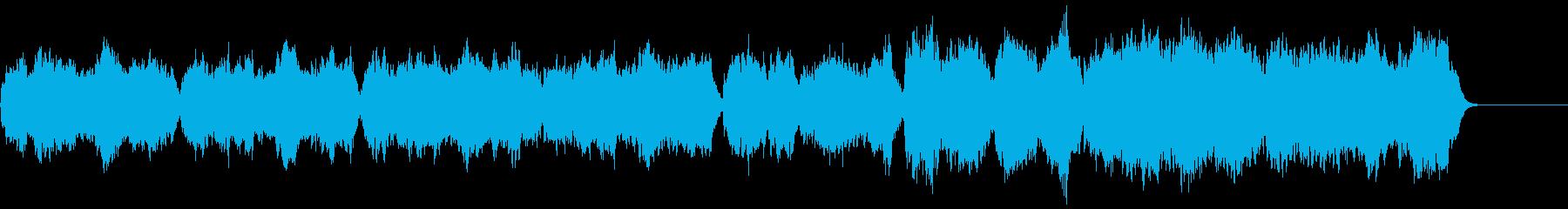 バロック編成の約1分のオリジナル曲の再生済みの波形
