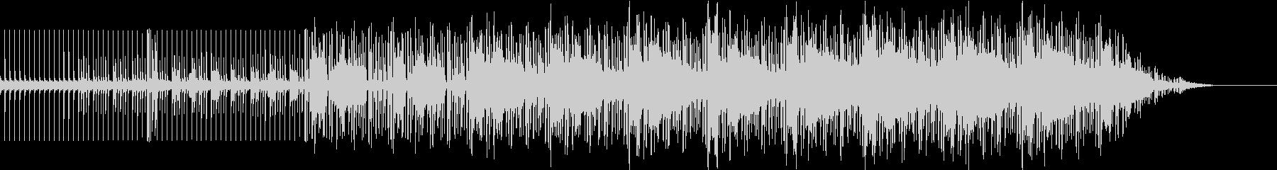 重低音のダンスミュージックの未再生の波形