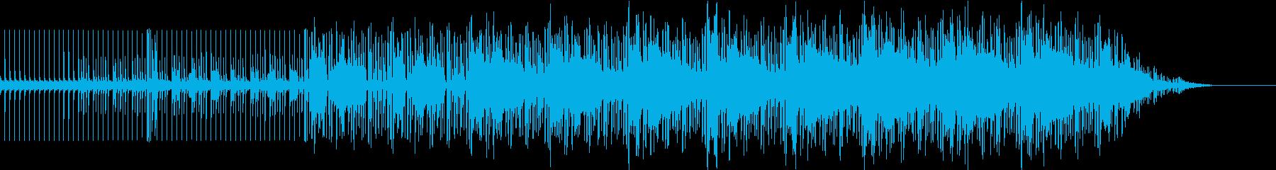 重低音のダンスミュージックの再生済みの波形