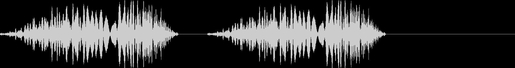DJプレイ スクラッチ・ノイズ 181の未再生の波形