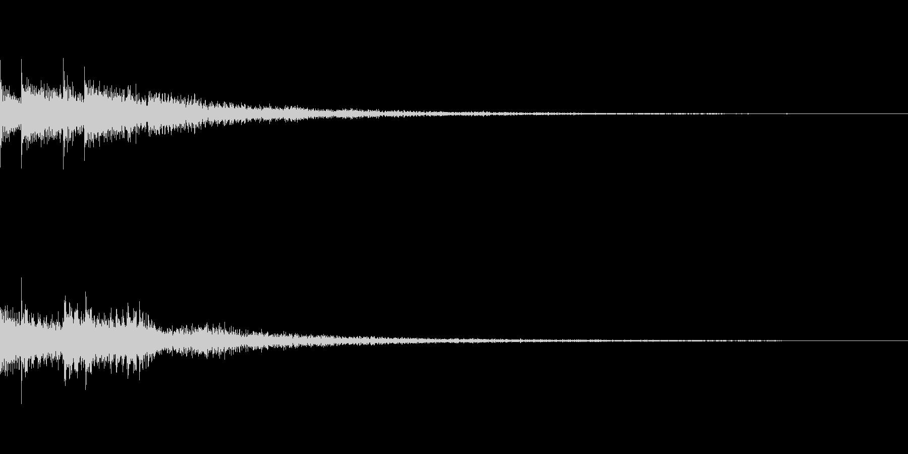 Push ゲーム コマンド ボタン SEの未再生の波形
