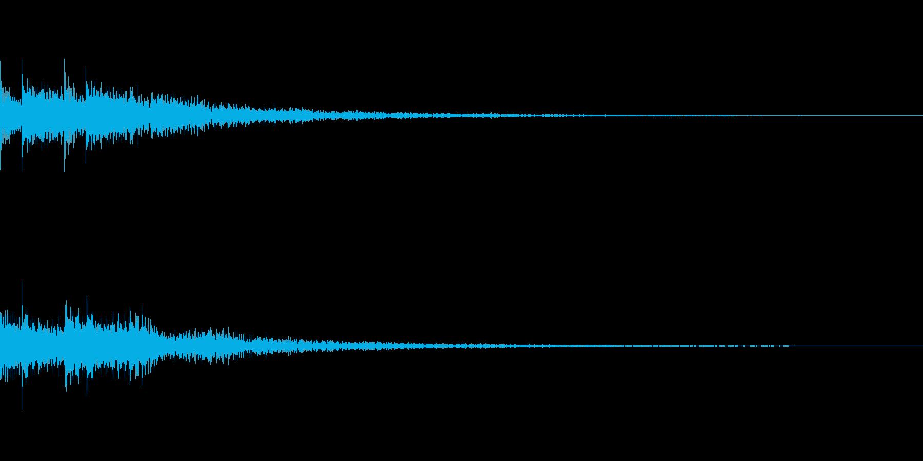 Push ゲーム コマンド ボタン SEの再生済みの波形