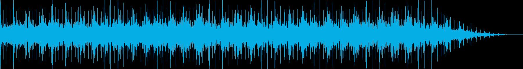 アコギとピアノの軽快なラテン系音楽の再生済みの波形