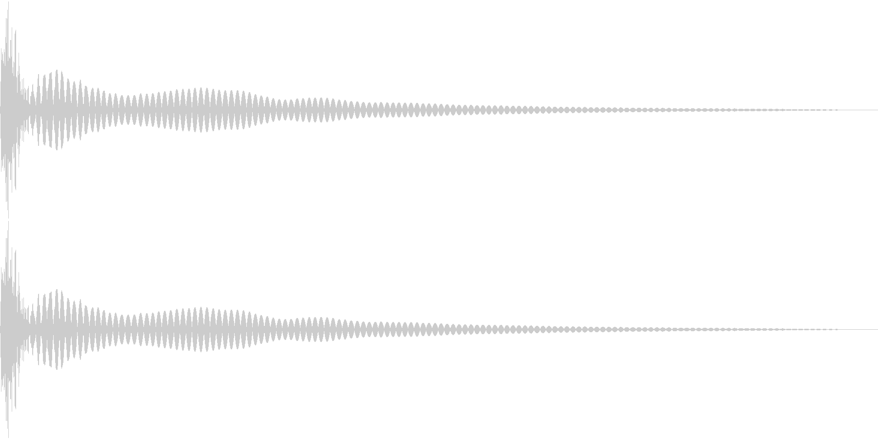 DTM Tom 35 オリジナル音源の未再生の波形