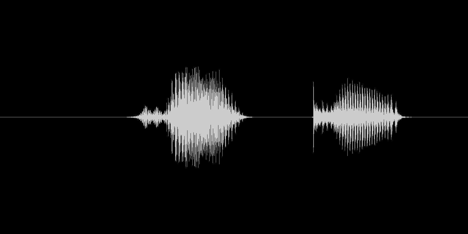 6(数字、女性)の未再生の波形
