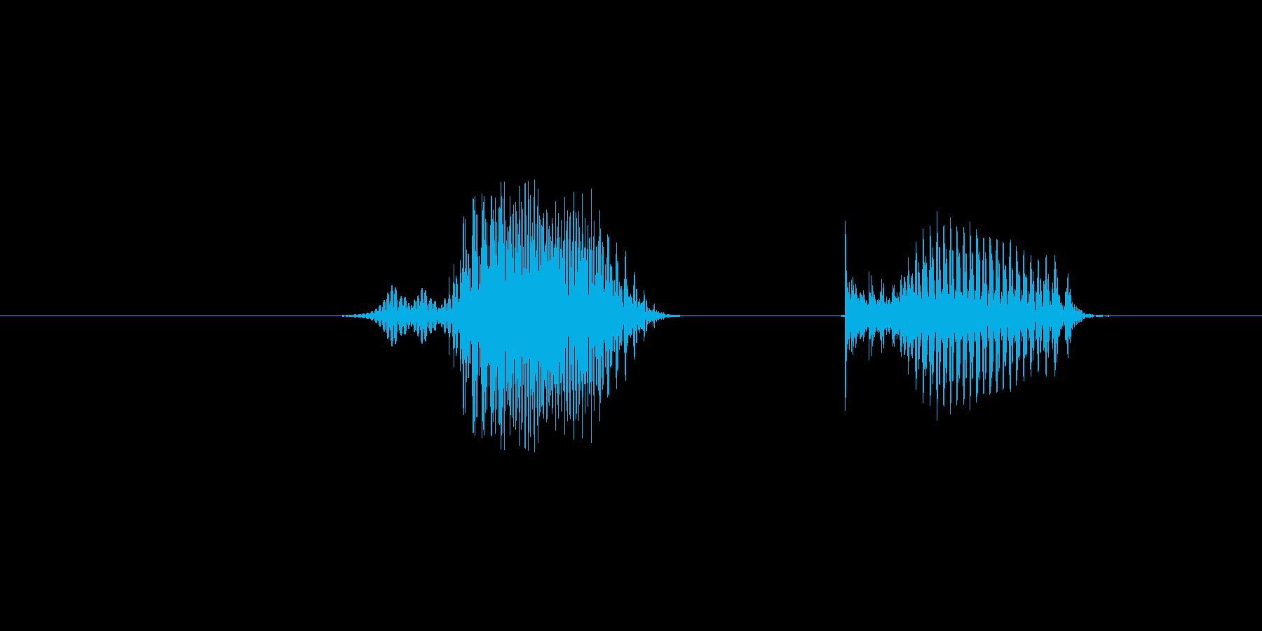 6(数字、女性)の再生済みの波形