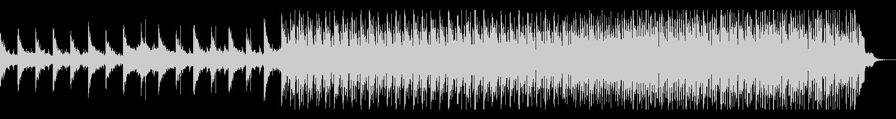 シンプルだけど流れが心地良い曲の未再生の波形