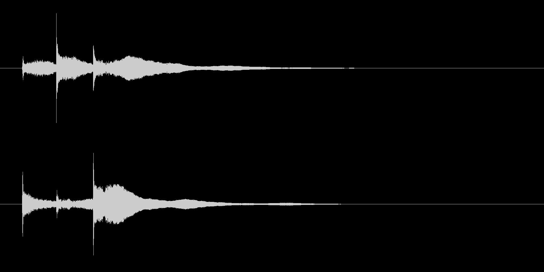 ピンポンパーン,エレキギターハーモニクスの未再生の波形