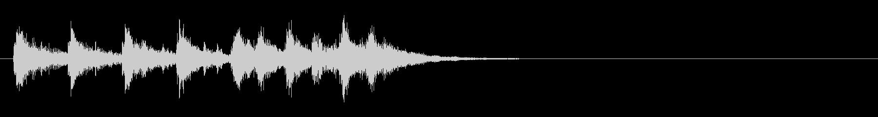 ラテン風のサウンドロゴ(学校のチャイム)の未再生の波形