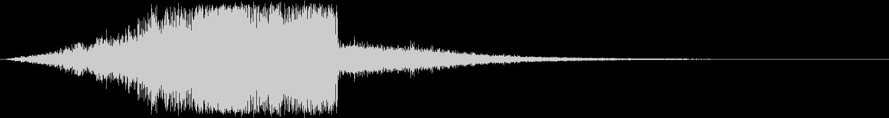 破壊的な効果音(アニメ・ゲーム)の未再生の波形